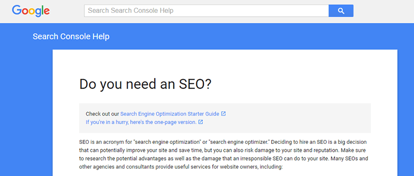 Googles SEO Guidelines