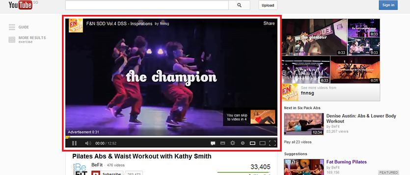 SEM In-Stream Youtube Ad formats
