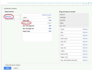 Search Engine Marketing Singapore Quality Score 2