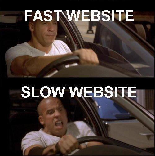 Vin Diesel and Slow Websites