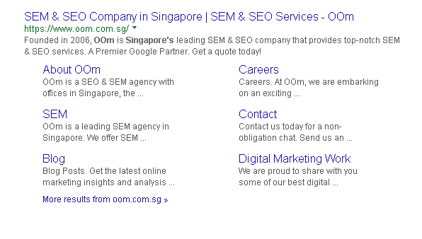 OOm Search Result Snippet