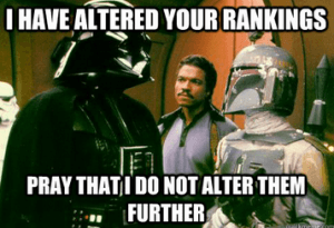 Altered Your Rankings Vader