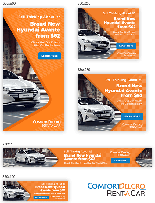 cdg rent a car ad banner