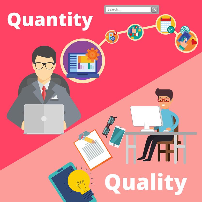 quantity versus quality