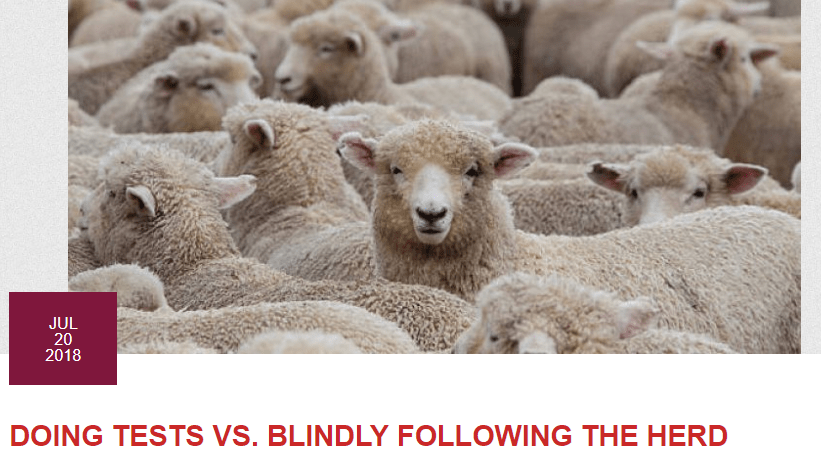 Doing Tests vs Following the Herd