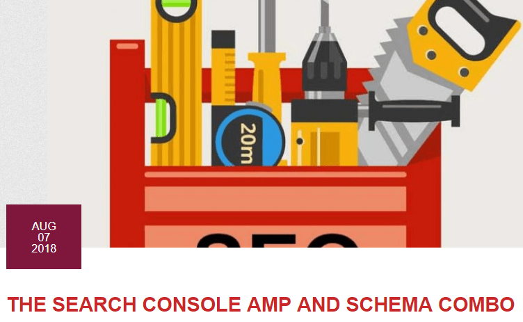 Search Console AMP Schema
