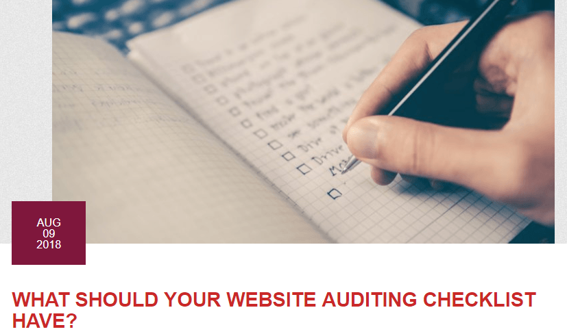 Website Auditing Checklist