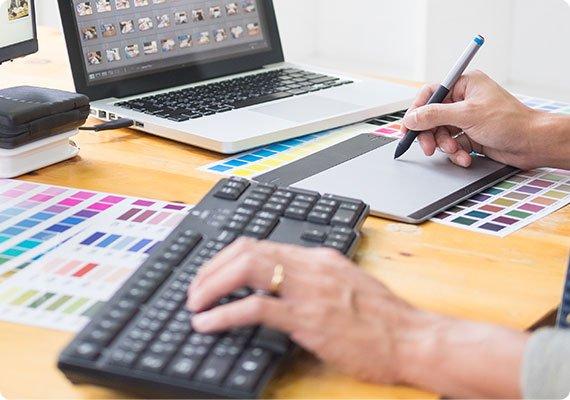 in-house graphic designer