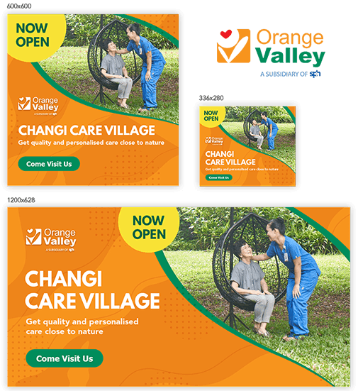 orange valley ad banner