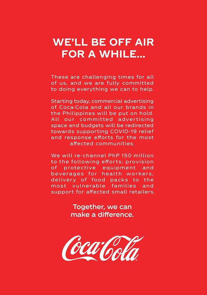 Coca Cola Notify the Public