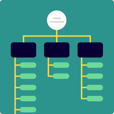 flowchart or process infographics