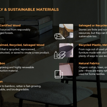 sustainable furniture infographic portfolio
