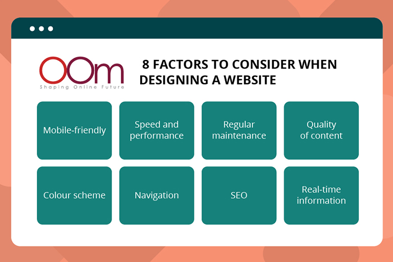 8 Factors To Consider When Designing a Website