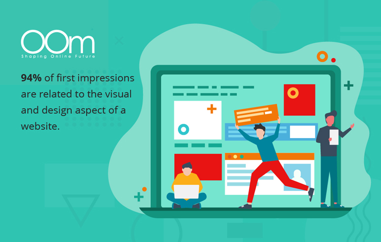 impressions related to visual and website design