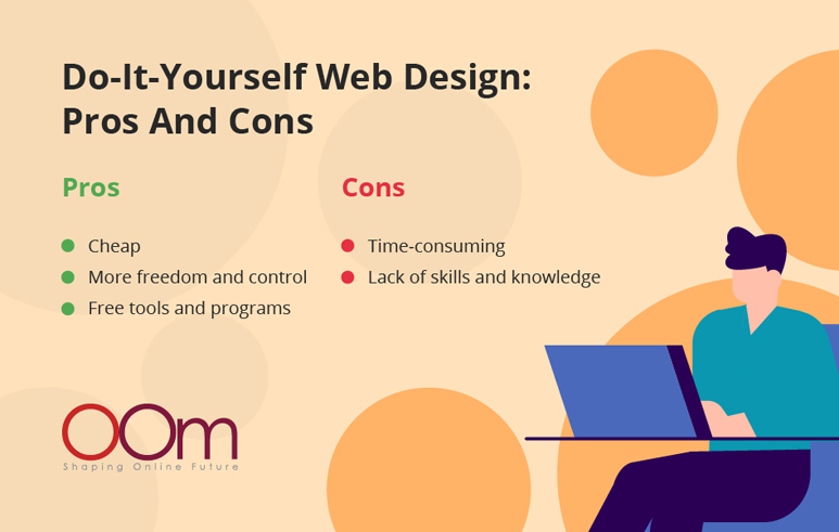 do it yourself web design pros and cons