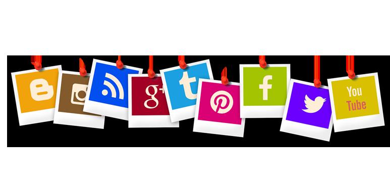 Social media icons logo