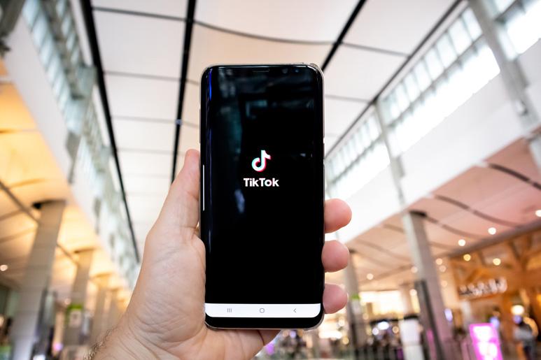 Tiktok Marketing Black Smartphone