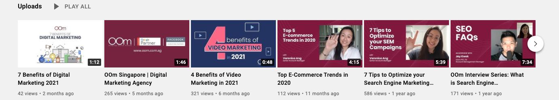 YouTube OOm Singapore Thumbnails