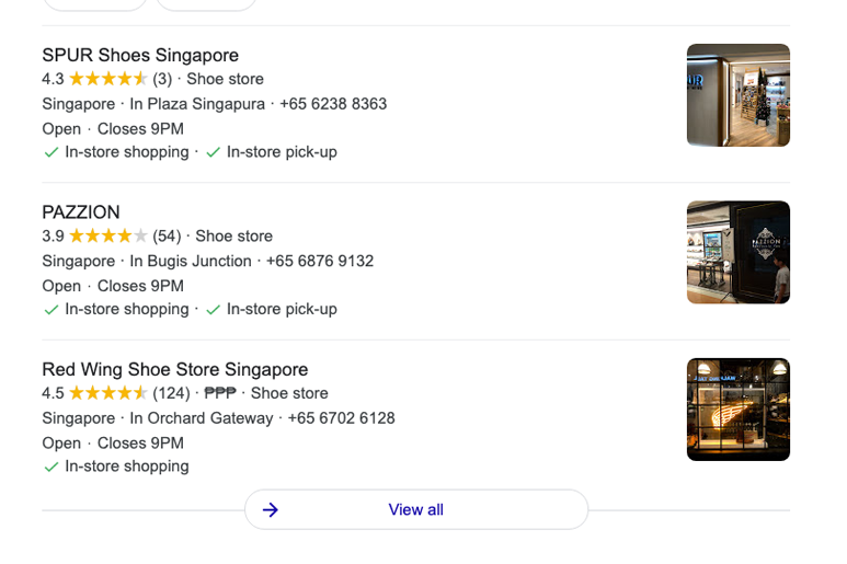 Google Local 3-Pack