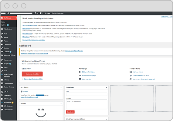 User Friendly Website Backend Dashboard