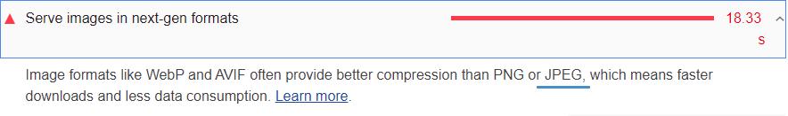 Google Lighthouse Web Performance.