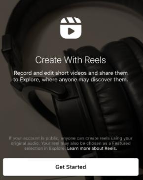 Welcome Screen IG Reel Creator